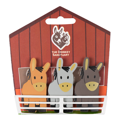 Three Donkey Eraser Set
