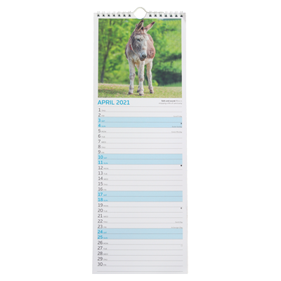Donkey Sanctuary Slim Calendar - inside