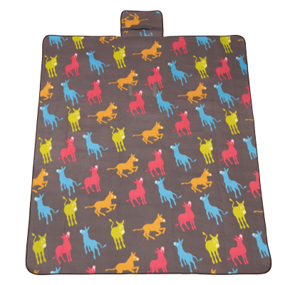 Playful Donkeys Picnic Rug