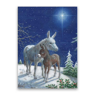 Crisp Cold Night Christmas Cards, Pack of 10