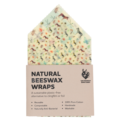 Watercolour Natural Beeswax Food Wraps